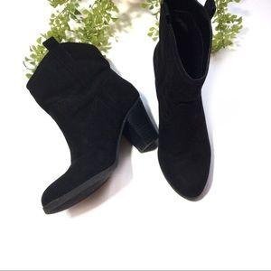 Nine West Black Heeled Leather Ankle Boots